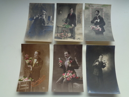 Beau Lot De 60 Cartes Postales De Fantaisie  Hommes  Homme   Mooi Lot 60 Postkaarten Van Fantasie Mannen Man -  60 Scans - Postcards