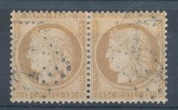 N°55 PAIRE  NUANCE ET OBLITERATION. - 1871-1875 Cérès