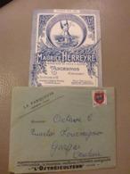 ENVELOPPE ILLUSTRÉE M.HERREYRE HUÎTRES ANDERNOS + TARIFS 1953 POUR GARGAS VAUCLUSE - Advertising