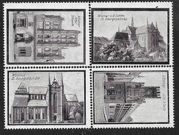 4110c: Vignettenserie Wismar 1914, Zusammendruck ** - Erinnophilie