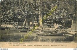 91.  BRUNOY .  Les Vallées .  Restaurant Jaspard .  Buvette Sur L'Yerres . - Brunoy