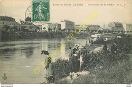 ALFORT . Ouverture De La Pêche . Bords De Marne .  CPA Animée . - Francia