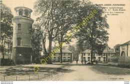 77.  SAINTE ASSISE PONTHIERRY . Centre Radioélectrique De La Cie RADIO-FRANCE . Vue Des Communs Du Château . - France