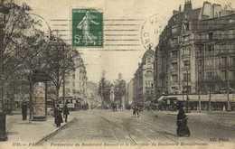PARIS  Perspective Du Boulevard Raspail Et Le Carrefour Du Boulevard Montparnasse RV - District 14