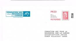 France. Entier Postal Postréponse. Nouvelle Marianne. Fondation Arc Pour Le Cancer. 229049 - Ganzsachen