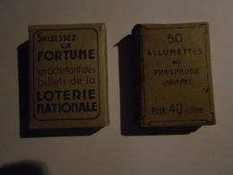 Boîte Allumettes Au Phosphore   - 2 Boîtes Anciennes - Matchboxes