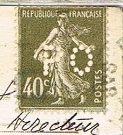 SEMEUSE PERFOREE PO SUR CPA CHEMIN DE FER PARIS ORLEANS - Gezähnt (Perforiert/Gezähnt)