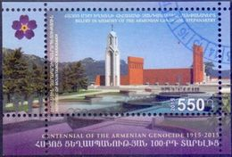 Used Armenia - Karabakh 2015, Armenian Genocide S/S. - Armenië