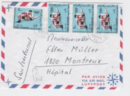 Afghanistan Cover Franked W/1972 Olympic Games In München - Wrestling Posted Kabul 1973 To Schweiz (G95-40) - Ete 1972: Munich