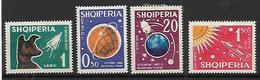 ALB003 - ALBANIA - RICERCA SPAZIALE 1962 - 663/666 - NUOVI CON LINGUELLA - Albania