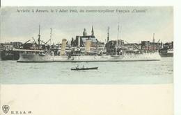 WAR SHIP BOAT - NAVIRE De GUERRE - CV Du Contre-torpilleur CASSINI à ANvers Le 7 Août 1903 - W0446-II - Guerra