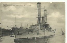 WAR SHIP BOAT - NAVIRE De GUERRE -  Amerikaansch Oorlogship ILLINOIS 1913 - W0448-II - Guerra