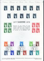 Collection Historique Du Timbre-poste - TTB - Ref.0215 - 1977 SABINE 1978 - Francia