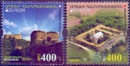 Used  Armenia  Karabakh Arttsakh 2017, Europa - Castels - Amaras 4th Century And Mayraberd 18th Century 2V. - Armenia