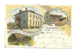 AK Dzieditz - Dziedzice - Schlesien - Mehrbild - Bahnhof - 1899 - Polen