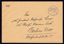 KAIS. DEUTSCHE MARINE-SCHIFFSPOST No 104 27.2.16 (= SMS Berlin) + Rs Steg-K1 - Germany