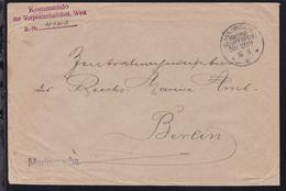 KAIS. DEUTSCHE MARINE-SCHIFFSPOST No 208 16.8.16 (= Vorposten-Halbflottille  - Germany