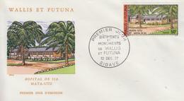 Enveloppe  FDC  1er  Jour   WALLIS  ET  FUTUNA    Batiments  Et  Monuments   Oblitération    SIGAVE    1977 - FDC