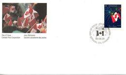 CANADA. N°1148 De 1990 Sur Enveloppe 1er Jour. Drapeau National. - Buste