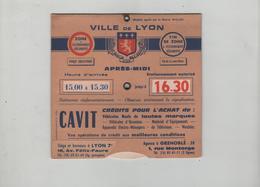 Disque De Stationnement Ville De Lyon Cavit Grenoble Colfi - Vieux Papiers