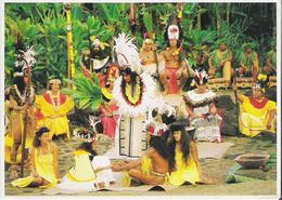 TAHITI. CP Marae De Arahurahu Cérémonie Ancestrale D'un Mariage Royale (petit Défaut Côté Droit Voir Scan) - Polynésie Française