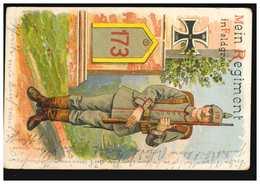 AK Mein Regiment In Feldgrau: Inf.-Regiment 173, Feldpost BS II. Rekruten-Depot - Militaria