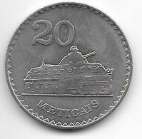 *Mozambique 20  Meticais  1980 Km 103   Unc/ms63 - Mozambique