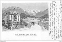 HOTEL BUBENBERG GARNI INTERLAKEN FAMILLE OEHRLI CORTI PROPRIETAIRE 1919 TBE - BE Berne