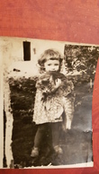 Girl And GATO CHAT CHATON CAT KITTEN. VINTAGE FOTO PHOTO ORIGINAL - Personnes Anonymes