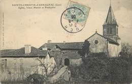 SAINTE CHRISTIE D'ARMAGNAC - église , Vieux Manoir Et Presbytère. - France
