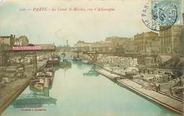 PARIS - Le Canal Saint Martin, Rue D'allemagne, Péniches. - Arken