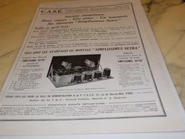 ANCIENNE PUBLICITE EXECUTEZ UN POSTE TSF DE CASE 1929 - Autres