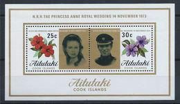 Aitutaki Bloc N° 1** (MNH) 1973 - Mariage De La Princesse Anne Et Du Capitaine Mark Phillips - Aitutaki