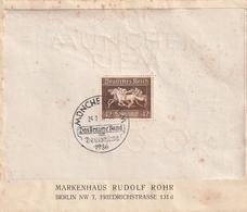 Deutsches Reich / 1936 / Block 4 Auf Brief SSt. Muenchen (4140) - Blocks & Sheetlets
