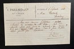 60205 - Notice C.Paillard & Cie Sainte-Croix 8.09.1880 - Suisse