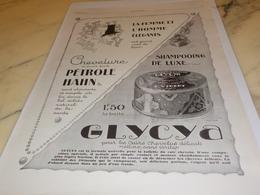 ANCIENNE PUBLICITE  PETROLE HAHN CHEVELURE SHAMPOOING 1927 - Parfum & Cosmetica