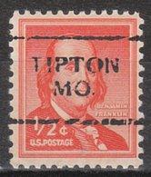 USA Precancel Vorausentwertung Preo, Locals Missouri, Tipton 701 - Vereinigte Staaten