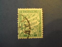 "1859-55 - TAXES - Type Duval,  Oblitéré  N° 36 ""   45c Vert ""     Net  3 - Portomarken"