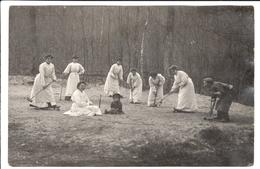 Cpa Photo Carte Postale Ancienne  - Femme Jouant Au Jeux De Croquet - Fotografia