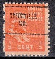 USA Precancel Vorausentwertung Preo, Locals Missouri, Union Ville 704 - Vereinigte Staaten