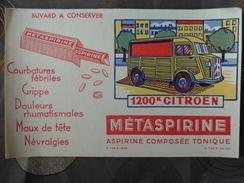 BUVARD METASPIRINE 1200 K CITROEN CAMION TUBE - Produits Pharmaceutiques