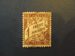"1859-55 - TAXES - Type Duval,  Oblitéré   N° 40a   ""   1f Lilas Sur Blanc""     Net  0.50  Photo 1 - Portomarken"