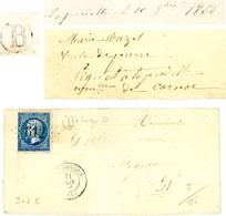 LOT LAC 1866 BRETENOUX GC T15 + BOITE RURALE B = LA PRAIELLE COMMUNE DE CORNAC - 1849-1876: Période Classique