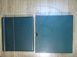 VEND ALBUM AVEC FEUILLES LEUCHTURM + BOITIER , FRANCE , 1849 - 1959 + FIN DE CATALOGUE , VERT !!! - Albums & Binders