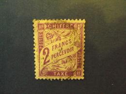 "1859-55 - TAXES - Type Duval,  Oblitéré   N° 42   ""   2f Parme""     Net  1 - Portomarken"