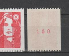 FRANCE / 1993 / Y&T N° 2819a ** : Briat (roulette) TVP LP (avec N°) X 1 - France