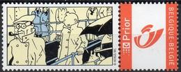 DUOSTAMP - TINTIN - KUIFJE - HERGE - 1 Timbre - Belgien