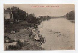 - CPA SAINT-PIERRE-DU-VAUVRAY (27) - Bords De Seine (avec Lavandières) - Photo A. Lavergne - - Francia