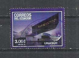 ECUADOR 2016 - UNASUR CONFERENCE USD 3.00 - POSTALLY USED OBLITERE GESTEMPELT USADO - Equateur