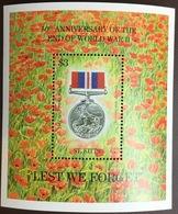 St Kitts 1995 World War II Anniversary Minisheet MNH - St.Kitts Und Nevis ( 1983-...)